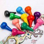 Crayons à dessiner pour enfants, doigt en forme de Crayons de cire Non toxiques 12 couleurs, Palm Grip colorier peinture Crayons pour tout-petits, bébés, enfants, garçons, filles, jouets empilables de la marque Tian Heng image 1 produit