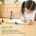 Crayons à dessiner pour enfants, doigt en forme de Crayons de cire Non toxiques 12 couleurs, Palm Grip colorier peinture Crayons pour tout-petits, bébés, enfants, garçons, filles, jouets empilables de la marque Tian Heng image 3 produit
