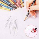 Crayons kids de bois, KimKo 30 x crayons enfants de dureté de HB avec caoutchoucs pour dessin animés pour les fêtes de fin d'année, les sacs de fête, le cadeau d'anniversaire parfait pour Noël de la marque KimKo image 2 produit