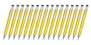 Creativgravur 15gratuite Lot de 6stylos à bille Magic en métal, un coupe-papier, bleues Grande Mine Gelb Metallic de la marque creativgravur image 0 produit