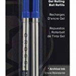 Croix selectip Stylo gel rollingball Recharge, bleu, 2par carte (8521-2) de la marque A.T. Cross image 2 produit