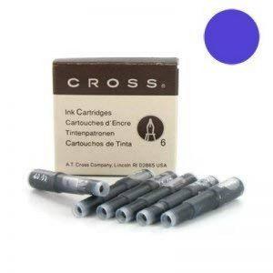 Cross 8931td- étui Boîte de 6cartouches Stylo plume–ENCRE Bleu effaçable de la marque Cross image 0 produit