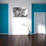 Curieux petit léopard sur l'effet de dessin au fusain d'arbres, format: 120x80 sur toile, XXL énormes Photos complètement encadrées avec civière, impression d'art sur murale avec cadre, moins cher que la peinture ou une peinture à l'huile, pas une affiche image 3 produit