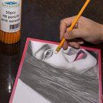 Dahomez 50pcs 2hb Crayon avec Eraser Woodcase Haut en caoutchouc Easy Sharpening Lead Pen de la marque Dahomez image 3 produit
