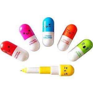 DDLBiz Mini Rétractable Pilules Stylo à Bille Télescopique Capsule Stylo Bille, cadeau babiole mignon rigolo pour enfants, 6 pcs de la marque DDLBiz image 0 produit
