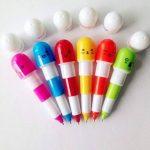 DDLBiz Mini Rétractable Pilules Stylo à Bille Télescopique Capsule Stylo Bille, cadeau babiole mignon rigolo pour enfants, 6 pcs de la marque DDLBiz image 1 produit