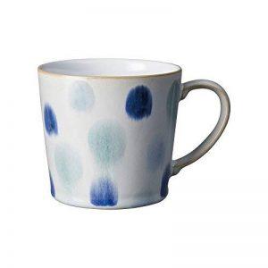 Denby Mug peinte à la main, en céramique, Bleu spot, 9.5x 9x 13cm de la marque Denby image 0 produit