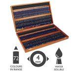 Derwent Inktense Crayons de Couleur Solubles (Coffret Bois de 72) de la marque DERWENT image 1 produit