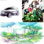 Dessin Marqueur Stylos Animation Sketch Marker Set Marqueur Double Astuce Pour Artist Manga Marqueurs Graphiques Brush (40 couleurs blanc corps) de la marque RONGXIANG image 6 produit