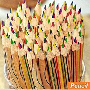 Dingdangbell 10pcs/lot arc-en-ciel Couleur crayon 4en 1couleur Dessin Peinture Crayons à papier Stationery Office de la marque dingdangbell image 0 produit