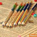 Dingdangbell 10pcs/lot arc-en-ciel Couleur crayon 4en 1couleur Dessin Peinture Crayons à papier Stationery Office de la marque dingdangbell image 4 produit