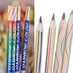 Dingdangbell 10pcs/lot arc-en-ciel Couleur crayon 4en 1couleur Dessin Peinture Crayons à papier Stationery Office de la marque dingdangbell image 3 produit