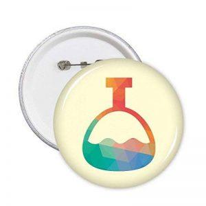 Diythinker Dessin animé Cône Bouteille chimie Motif broches rondes badge Button Vêtements Décoration 5pcs Cadeau S multicolore de la marque DIYthinker image 0 produit