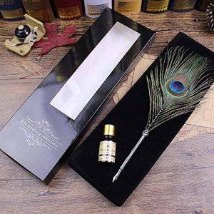 Ecvision Antique Plume stylo en métal nibbed écriture stylo de calligraphie avec Lot de plumes de la marque ECVISION image 0 produit