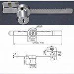 Efbock Reptile Vivarium Terrarium Vitrine Vitrine coulissante en verre Door Lock + 1set Key de la marque efbock image 3 produit