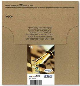 Encre d'origine EPSON C13T16264510 Multipack Stylo Plume T1626 : cartouches Noir, Cyan, Magenta et Jaune [Emballage « Déballer sans s'énerver par Amazon »] de la marque Epson image 0 produit