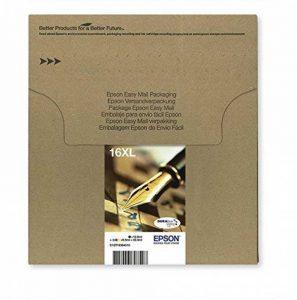 Encre d'origine EPSON Multipack Stylo Plume T1636 : cartouches Noir XL, Cyan XL, Magenta XL et Jaune XL [Emballage « Déballer sans s'énerver par Amazon »] de la marque Epson image 0 produit