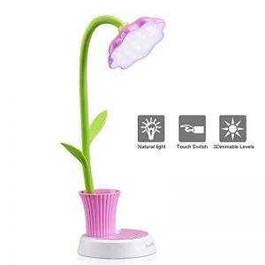 Enfants Cadeau OCOOPA LED Lampe de Table, à Contrôle Tactile Lumière Ajustable Flexible USB Batterie Rechargeable avec Pot à Crayons (Rose) de la marque OCOOPA image 0 produit