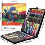 Ensemble d'Artiste 258 pièces Creativity Art Set pour enfants dessin et peinture (aquarelle, crayons, marqueurs de couleur, crayons de couleur) de la marque Ccfoud image 6 produit