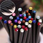 Ensemble de crayons, Letone Noir Canne à pêche avec coloré Diamant Top Sketch Crayons pour les enfants d'écriture Drawing-12Packs (HB) de la marque Letone image 3 produit