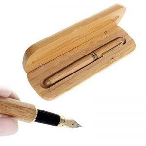 Ensemble de stylo en bambou, Borte 1 Set stylo plume d'écriture Set Fine Nib avec boîtier en bois calligraphie fontaines stylos cadeau Set pour les hommes de la marque Borte image 0 produit