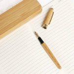 Ensemble de stylo en bambou, Borte 1 Set stylo plume d'écriture Set Fine Nib avec boîtier en bois calligraphie fontaines stylos cadeau Set pour les hommes de la marque Borte image 3 produit