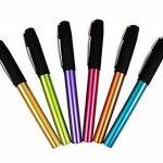 Ensemble de stylo plume Hillento YIREN, ensemble de stylo 6 couleurs, capuchon noir, plastique (doré, bleu, vert, violet, rouge, orange) de la marque Hillento image 2 produit
