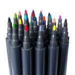 Ensemble de stylos à bille Magicdo à deux pointes - Pointe de pinceau 24 couleurs et stylos à pointe fine pour aquarelle, stylos à encre à base d'eau, stylos à bille pour esquisses, coloriage de la marque Magicdo® image 3 produit