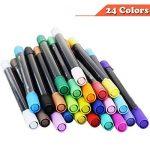 Ensemble de stylos à bille Magicdo à deux pointes - Pointe de pinceau 24 couleurs et stylos à pointe fine pour aquarelle, stylos à encre à base d'eau, stylos à bille pour esquisses, coloriage de la marque Magicdo® image 4 produit