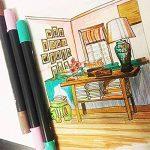 Ensemble de stylos à bille Magicdo à deux pointes - Pointe de pinceau 24 couleurs et stylos à pointe fine pour aquarelle, stylos à encre à base d'eau, stylos à bille pour esquisses, coloriage de la marque Magicdo® image 5 produit