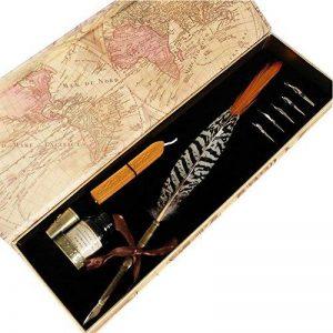 Ensemble de stylos Plume d'oie GC à l'Ancienne à Tige en cuivre PA-15 de la marque Hethrone image 0 produit