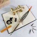 Ensemble de stylos Plume d'oie GC à l'Ancienne à Tige en cuivre PA-15 de la marque Hethrone image 1 produit