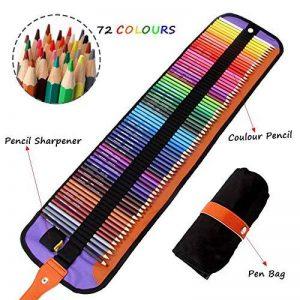 Ensemble ultime de 72 crayons de couleurs Meloive. Les meilleurs crayons de couleurs pour les artistes, les étudiants, les bandes dessinées, les illustrations, la décoration d'intérieur, l'art et le coloriage pour adultes ainsi que cadeau de noël. de la m image 0 produit