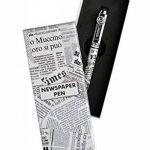 Equinoxe Cadeaux BIL NEWSPAPER Stylo bille en métal Noir/Blanc de la marque Equinoxe Cadeaux image 1 produit