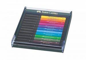 FABER CASTELL 10731 Feutre Pitt Artist Pen Brush Pointe Pinceau Doux Permanent Indore Étui Lot de 12 Assorties de la marque Faber Castell image 0 produit