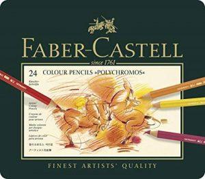Faber-Castell 110024 Crayon de couleur Polychromos boîte métal de 24 pièces de la marque Faber-Castell image 0 produit