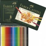 Faber-Castell 110024 Crayon de couleur Polychromos boîte métal de 24 pièces de la marque Faber-Castell image 1 produit