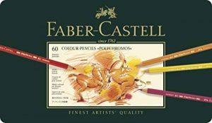 Faber-Castell 110060 Crayon de couleur Polychromos boîte métal de 60 pièces de la marque Faber-Castell image 0 produit
