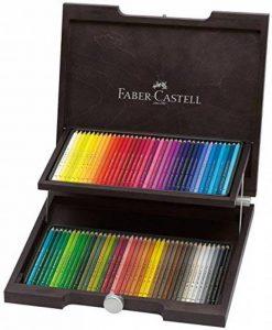 Faber-Castell 110072 Crayons de couleur Polychromos, coffret en bois wengé de 72 pièces de la marque Faber-Castell image 0 produit