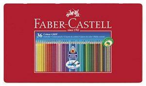 Faber-Castell 112435 Crayon de couleur COLOUR GRIP boîte métal de 36 de la marque Faber-Castell image 0 produit