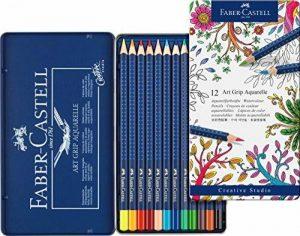 Faber-Castell 114212 Crayon ART GRIP AQUARELLE boîte métal de 12 de la marque Faber-Castell image 0 produit