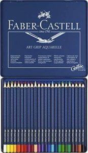 Faber-Castell 114224 Crayon ART GRIP AQUARELLE boîte métal de 24 de la marque Faber-Castell image 0 produit