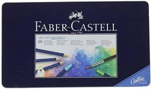 Faber-Castell 114260 Crayons de couleur ART GRIP AQUARELLE boîte métal de 60 de la marque Faber-Castell image 0 produit