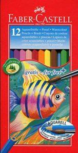 Faber-Castell 114413 Crayons de couleur aquarellables, étuis de 12 - pinceau inclus de la marque Faber-Castell image 0 produit