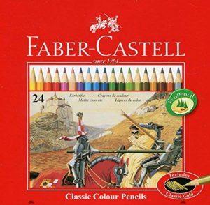 Faber-Castell 115845 Classic Crayons de couleur hexagonal, boîte métal de 24 de la marque Faber-Castell image 0 produit