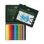 Faber-Castell 117524 Crayons de couleur Albrecht Dürer boîte métal de 24 de la marque Faber-Castell image 1 produit