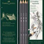 Faber-Castell 117805 Crayon graphite aquarellable 5 HB/2B/4B/6B/8B de la marque Faber-Castell image 1 produit