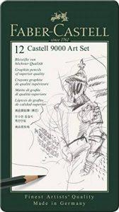 """Faber-Castell 119065 Set """"Art"""" de 12 crayons graphite CASTELL 9000 de la marque Faber-Castell image 0 produit"""