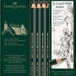 Faber-Castell 119305 Étui de 5 crayons graphite CASTELL 9000 de la marque Faber-Castell image 1 produit