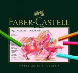 Faber-Castell 128524 Craie pastel Polychromos secs boîte de 24 de la marque Faber-Castell image 0 produit